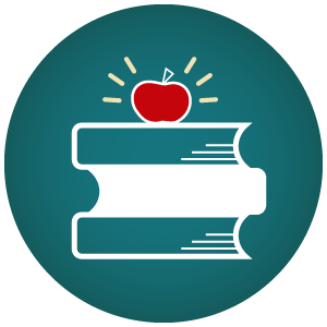 Icon of a stack of books which is also a link to register for Book Club